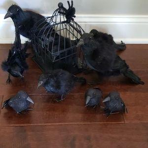 Other - HALLOWEEN 9 blackbirds + birdcage